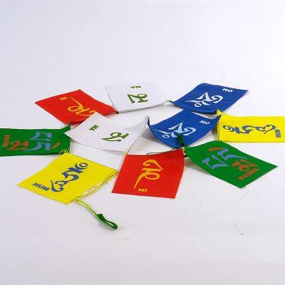 молитвени флагове ОМ МАНИ ПАДМЕ ХУМ