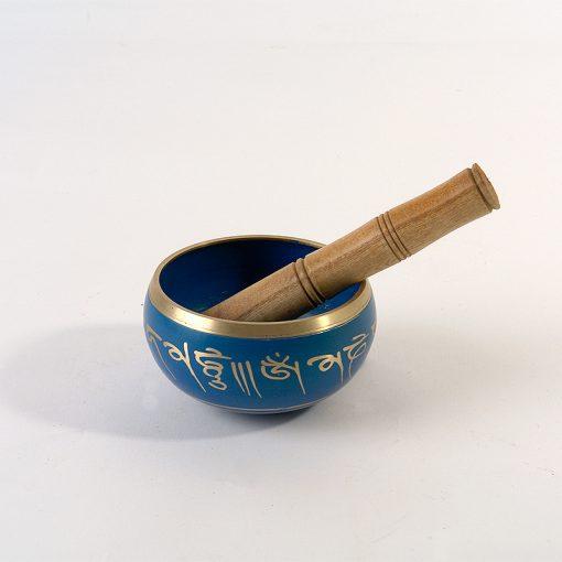 тибетска пееща купа синя